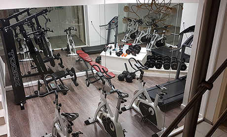 Hotel facilities gym training